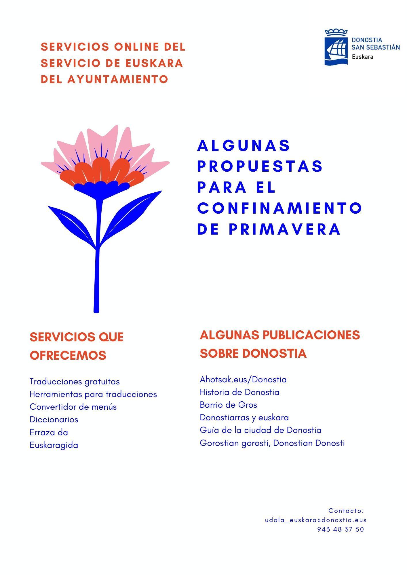Itxialdia arintzeko euskarazko eskaintza